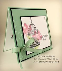 Stampin' Up! Builder Birdcage - Jacque Williams