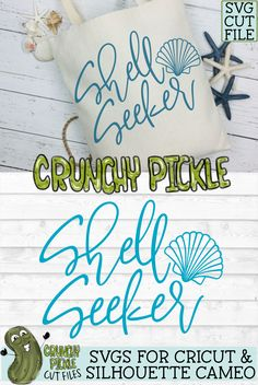 Beach svg - Summer svg - diy beach bag - svg files - svg file - svg files for Cricut - svg files for silhouette Cameo - Cricut crafts - Silhouette Cameo crafts - cut file - cutting files - sea shells svg - htv vinyl - vinyl designs. Silhouette Machine, Silhouette Files, Silhouette Cameo, Silhouette Projects, Cricut Vinyl, Svg Files For Cricut, Vinyl Decals, Cricut Air, Vinyl Designs