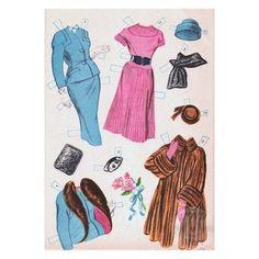 1954 ELIZABETH TAYLOR Uncut Reproduction Paper Dolls | 6 of 12