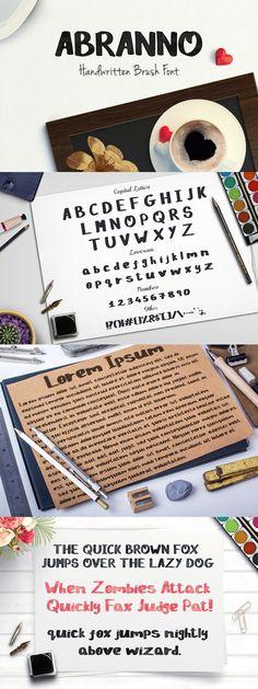 Abranno Font. Script Fonts. $6.00