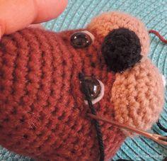 Teri Crews Designs: Tutorials, Jointing, Needle Scultping, Stitch Help, Photos & More, #crochet,  amigurumi, eyes, ogen modelleren voor amigurumi, #haken,