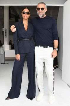 The 10 Best-Dressed Men of the Week WHAT Roberto Cavalli WHERE with Tina Kunakey at the Roberto Cavalli show during Milan Fashion Week WHEN September Fashion Mode, Look Fashion, Fashion Outfits, Fashion Trends, Milan Fashion, Fashion For Men, Street Fashion, Womens Fashion, Fashion Hats