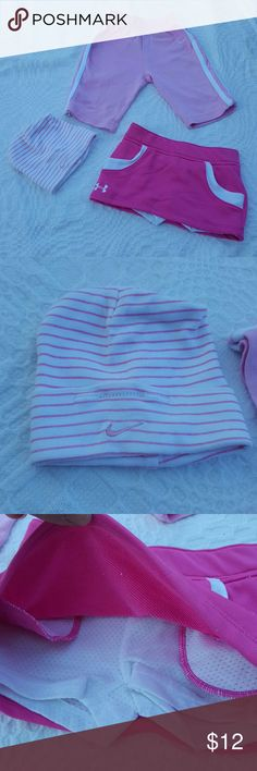 Lot of 3-6 month girls Nike & Under Armour Lot of 3-6 month girls Nike cap (NWOT) & EUC pants and NWOT Under Armour skort Nike Bottoms Sweatpants & Joggers