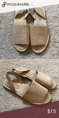 tan sling back mules slides sandals new; never worn. a little distorted due to storage. no trades! Old Navy Shoes Sandals