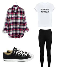 """Untitled #62"" by zain-mjalli on Polyvore featuring Boohoo, Converse and Madewell"