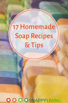 These DIY homemade soap recipes and tips will get you started making your own soaps. You can save money, avoid chemical ingredients on your skin, or just enjoy creating your own soap scents, colors and shapes.