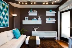 How To Decorate Your Living Room With Turquoise Accents | Grey ...