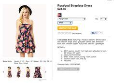 Forever 21  Rosebud Strapless Dress