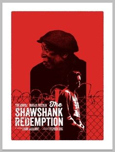 BROTHERTEDD.COM - Andrew Swainson 1990s Films, The Shawshank Redemption, Screen Print Poster, Morgan Freeman, You Are The World, Live Events, Popular Culture, Screen Printing, Hero