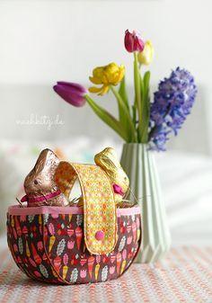 Osterkörbchen aus Stoff nähen
