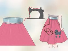 Make A Poodle Skirt Without Pattern And With Minimal Sewing