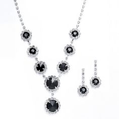 Black Bridesmaid Jewelry for Wedding