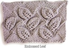 My next project will be learning how to knit an Entrelac Afghan pattern. (Embossed leaf)