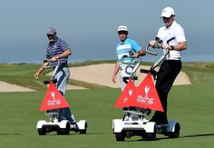 Watch Rory McIlroy and Jordan Spieth race each other on electronic skateboards #Actioncam