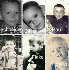 Aah.... Rammstein as little boys!
