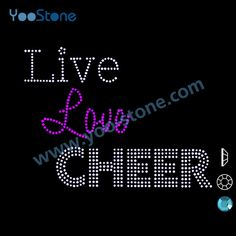 Find More Rhinestones Information about Free Shipping 20 pieces/lot Good Quality Live Love Cheer Iron On Rhinestone Transfers For Garment Accessory,High Quality iron on rhinestone transfer,China iron rhinestone transfers Suppliers, Cheap iron transfer paper