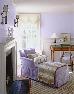 light lilac walls (California Paints Faded Lilac)