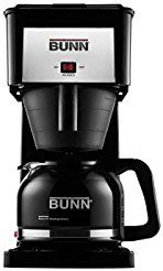 Christmas deals week Bunn Velocity Brew High Altitude Original Glass Carafe 10-Cup Home Brewer in Black with Porcelain-Coated Warming...