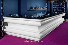 French style bar counter long straight design