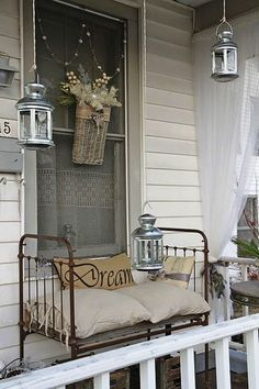Dreamy day bed on the patio
