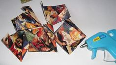 9 Folded Paper Flowers, Graphic 45, Source Of Inspiration, Altered Art, Vintage Inspired, Embellishments, Scrapbook, Projects, Cards