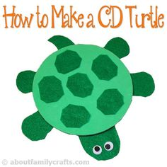 How to Make a Turtle Using an Old CD