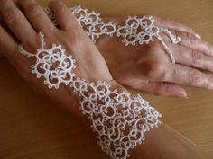 Hey, I found this really awesome Etsy listing at https://www.etsy.com/listing/160886845/bridal-pair-of-tatted-slave-bracelets