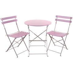 Beautiful #romantic #pink metallic coffee #table with two beautiful chairs! www.inart.com