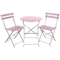 Beautiful #romantic #pink metallic coffee #table with two beautiful chairs! www.inart.com