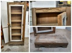 I built this Jelly Cabinet with pallet wood & recycled cypress cow pen boards from a ranch I worked at a few years ago. I first oxidized all the wood to give it the weathered look, then built the frame.…