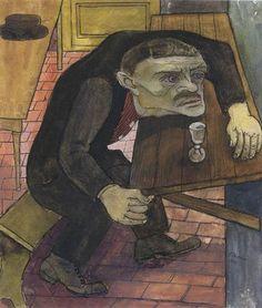 Ernst Thoms (Allemagne, 1896-1983) – Ohne Titel (In der Kneipe) (1922) Sprengel Museum, Hannover