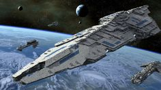 Space Cruiser (looks like a super star destroyer)
