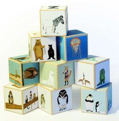 Image of Animal Alphabet blocks Set of 9