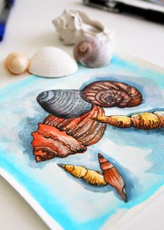 Watercoloring by Alisa Burke