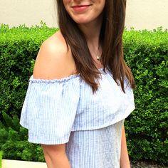 Seersucker Off the Shoulder Dress Tutorial by Bunny Baubles Blog 6