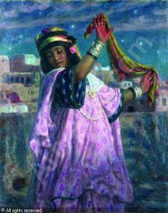 Toile du peintre Algérien Nasreddine Dinet .