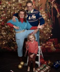 The Mime Family holiday photo op