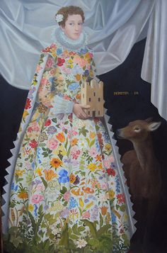 From Portal Painters, Lizzie Riches, Demeter Oil on canvas, 138 × 91 cm Edith Holden, Carl Larsson, Cicely Mary Barker, Art Beat, Art Through The Ages, Virtual Art, Fantasy Paintings, Painting People, Human Art