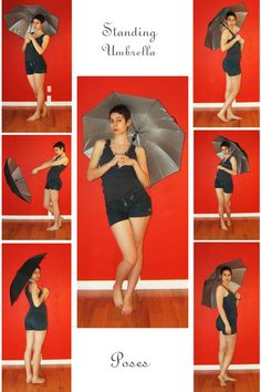 """Standing Umbrella"" pose reference sheet, by LaLunatique."