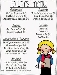 Funky Fresh Firsties: Restaurant Math {Serving Up the Common Core}