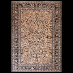 Mashad Rug - 5598 | Circa: 1900 Width: 10' 0'' ( 304.8 cm ) Length: 14' 4'' ( 436.9 cm Origin Persia…