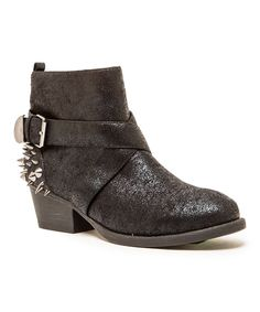 Look at this Black Stud Trevor Ankle Bootie on #zulily today!