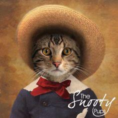 Peasant Boy Custom Cat Portrait