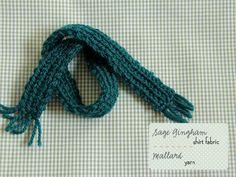 fabric in sage & yarn in dark spruce (Posy gets Cozy blog)