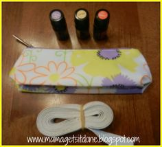 Mama Gets It Done: DIY Essential Oils Carrying Case, from an already done makeup bag
