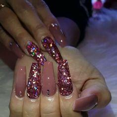 Tapered Square Nails. Glitter Nails. Rose Nails. Nails With Rhinestones. Acrylic Nails. Gel Nails.