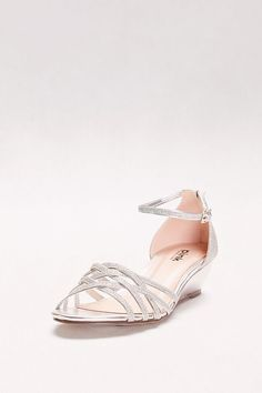8e42e92d31d7 Avery Glitter Mini Wedges with Woven Detail