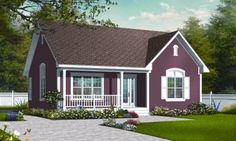 This country design floor plan is 1113 sq ft and has 2 bedrooms and has 1.00 bathrooms.