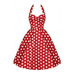 Maggie Tang Women's Backless 50s VTG Retro Check Rockabilly Hepburn Pinup Business Swing Dress 571 2017 - $24.99