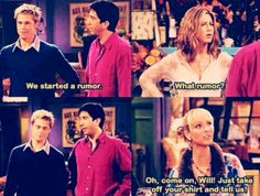 """""""Oh, come on, Will!. Just take off your shirt and tell us""""  I ❤️ phoebe!."""